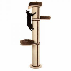 Klimpaal voor kat klimmen hoog  met mandjes