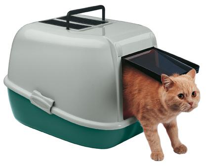 Een te kleine kattenbak kan zorgen voor poep of plas net naast de kattenbak